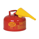 EAGLE Type I Safety Can, 2 Gal. Red with F-15 Funnel, UI-20-FS