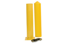 "EAGLE 4"" Round Bollard w/4"" x 36"" Smooth Post Sleeve & Kit"