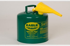 EAGLE Type I Safety Can, 5 Gal. Green with F-15 Funnel, UI-50-FSG