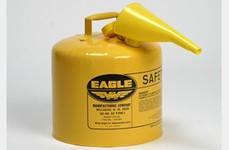 Metal - Yellow w/F-15 Funnel - 5 Gal.
