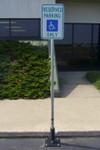 Innoplast 6' Sign Post System for Asphalt Installation