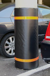 "Innoplast 44"" H x 48"" W Black Column Wrap Soft Padded Cover w/Red Tape"