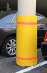 "Innoplast 44"" H x 48"" W Yellow Column Wrap Soft Padded Cover w/Red Tape"
