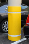 "Innoplast 44"" H x 48"" W Yellow Column Wrap Soft Padded Cover w/White Tape"