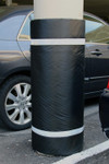 "Innoplast 44"" H x 60"" W Black Column Wrap Soft Padded Cover w/White Tape"