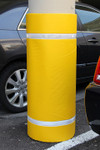 "Innoplast 44"" H x 72"" W Yellow Column Wrap Soft Padded Cover w/White Tape"