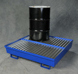 Four Drum Steel Containment Pallet
