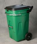 65 Gal Wheeled Waste E-Cart w/Lid-Green