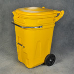 65 Gal Wheeled Spill Kit E-Cart w/Lid-Yellow