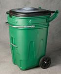 95 Gal Wheeled Waste E-Cart w/Lid-Green