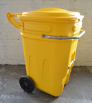 95 Gal Wheeled Spill Kit E-Cart w/Lid-Yellow