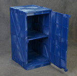 Poly Cabinet Modular 1 Door-2 Shelves-Blue