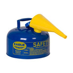 EAGLE Type I Safety Can, 2.5 Gal. Blue with F-15 Funnel, UI-25-FSB