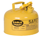 EAGLE Type I Safety Can, 2.5 Gal. Yellow, UI-25-SY