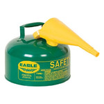 EAGLE Type I Safety Can, 2.5 Gal. Green with F-15 Funnel, UI-25-FSG