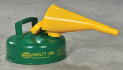 EAGLE Type I Safety Can, 2 Qt. Green with Funnel, UI-4-FSG