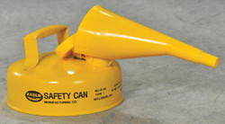 EAGLE Type I Safety Can, 2 Qt. Yellow with Funnel, UI-4-FSY