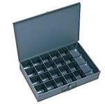 DURHAM Gray Steel Small Compartment Box - 21 Compartments