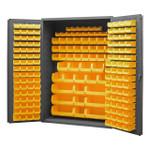 DURHAM 2502-186-95, Bin Cabinet, 16 gauge, 186 yellow bins