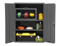 DURHAM 2600-2S-95, Shelf Cabinet, 36X18, 16 gauge, 2 shelf