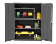 DURHAM 2600-2S-95, Shelf Cabinet, 36X18, 16 gauge, 2 shelf
