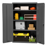 DURHAM 2601-3S-95, Shelf Cabinet, 36X18, 16 gauge, 3 shelf
