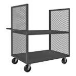 DURHAM 2SPT-EX3048-2-2K-95, 2 Sided Mesh Truck, 2 shelves