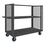 DURHAM 2SPT-EX3060-1A-2K-6PU-95, 2 Sided Mesh Truck, 2 shelves and top