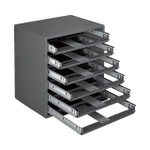 DURHAM 308-95, Small slide rack, 6 compartments