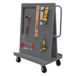 DURHAM AF-243652-PBS60-5PH-95, A-Frame Truck, pegboard panels, gray