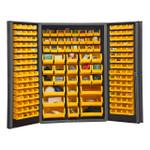 DURHAM DC48-176-95, Bin Cabinet, 14 gauge, 176 yellow bins