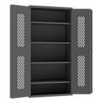DURHAM EMDC-361872-95, Ventilated Cabinet, 18X36, 3 shelves