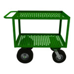 DURHAM GC-2436-2-10/12PN-83T, Garden Cart, 2 perforated shelves