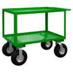 DURHAM GC-2436-2-10PN-83T, Garden Cart, 2 perforated shelves