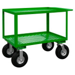 DURHAM GC-2448-2-10PN-83T, Garden Cart, 2 perforated shelves