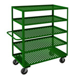 DURHAM GC-2448-5-6MR-83T, Garden Cart, 5 perforated shelves