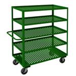 DURHAM GC-2448-5-6MR-83T, Garden Cart, 5 perforated shelves