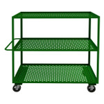 DURHAM GC-3060-3-6MR-83T, Garden Cart, 3 perforated shelves