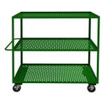 DURHAM GC-3060-3-6MR-83T, Garden Cart, 3 perforated shelves