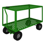DURHAM GT5WT-2448-2-10PN-83T, 5th Wheel Garden Truck, 2 shelves