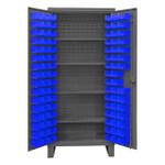 DURHAM HDC36-96-4S5295, Cabinet, 4 shelves, 96 blue bins