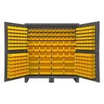 DURHAM HDC72-240-95, Bin Cabinet, 12 gauge, 240 yellow bins