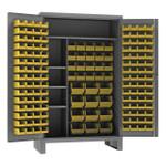 DURHAM HDJC244878-156-4S95, Cabinet, 4 shelves, 156 yellow bins