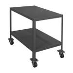 DURHAM MTM367236-3K295, Mobile Machine Table, 2 shelves, 3k cap.