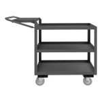 DURHAM OPCFS-1832-3-95, Order Picking Cart, flat writing shelf