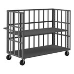 DURHAM OPTFB-7230-1AS-95, Open Portable Truck, 1 adjustable shelf