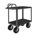 DURHAM RICE-2460-2-8SPN-95, Rolling Instrument Cart, 2 shelves