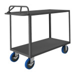 DURHAM RSCE-3060-2-ALD-8PUSB-95, Stock cart, 2 shelf, ergo handle