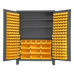 DURHAM SSC-185-3S-95, Cabinet, 3 shelf, 185 yellow bin w/ legs
