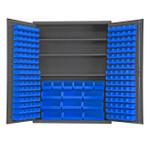 DURHAM SSC-185-3S-NL-5295, Cabinet, 3 shelf, 185 blue bin no legs